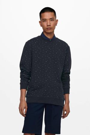 sweater Malik van biologisch katoen donkerblauw