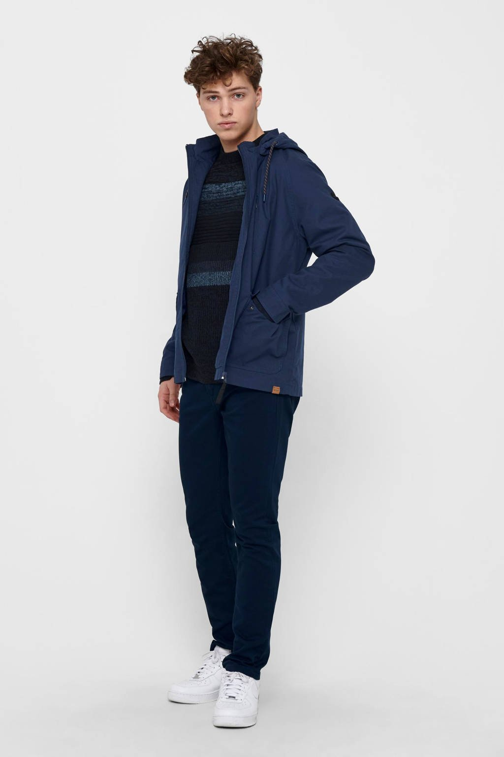 ONLY & SONS  jas James donkerblauw, Donkerblauw