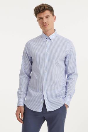 gestreept slim fit overhemd blauw/wit