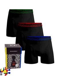 Muchachomalo giftbox boxershort + bordspel (set van 3), Zwart