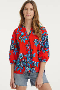 Tommy Hilfiger gebloemde blouse rood, Rood
