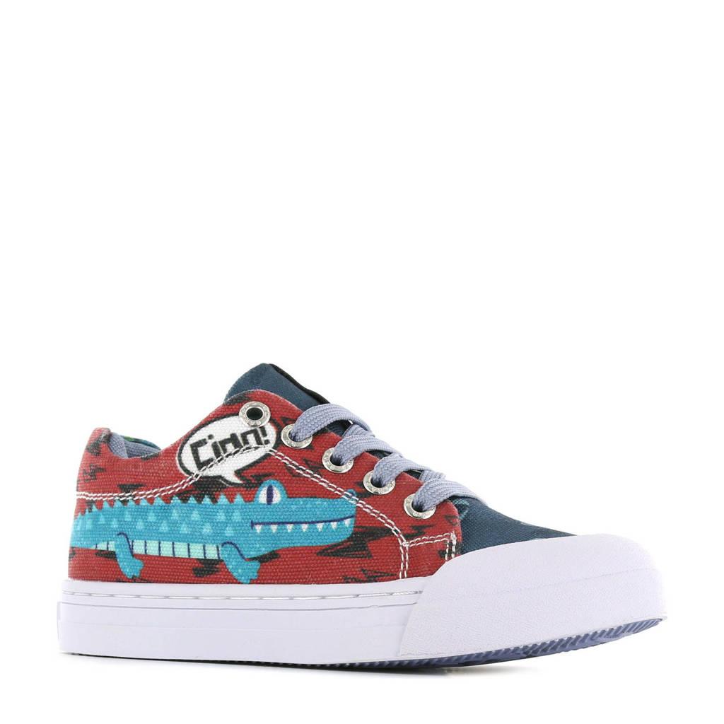 Go Banana's Alligator  sneakers blauw/rood, Rood/blauw
