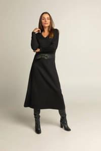 Expresso jurk met ceintuur zwart, Zwart