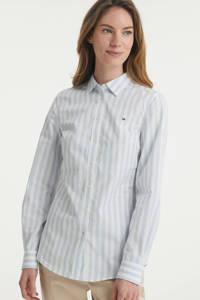 Tommy Hilfiger gestreepte blouse van biologisch katoen lichtblauw, Lichtblauw
