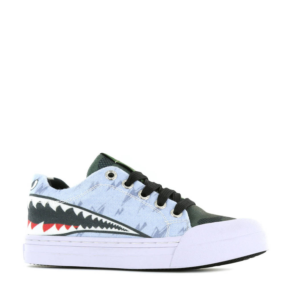 Go Banana's Sharkattack  sneakers lichtblauw, Lichtblauw