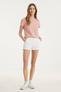 Tommy Hilfiger T-shirt van biologisch katoen lichtblauw, Roze