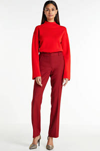 Expresso straight fit broek rood, Rood