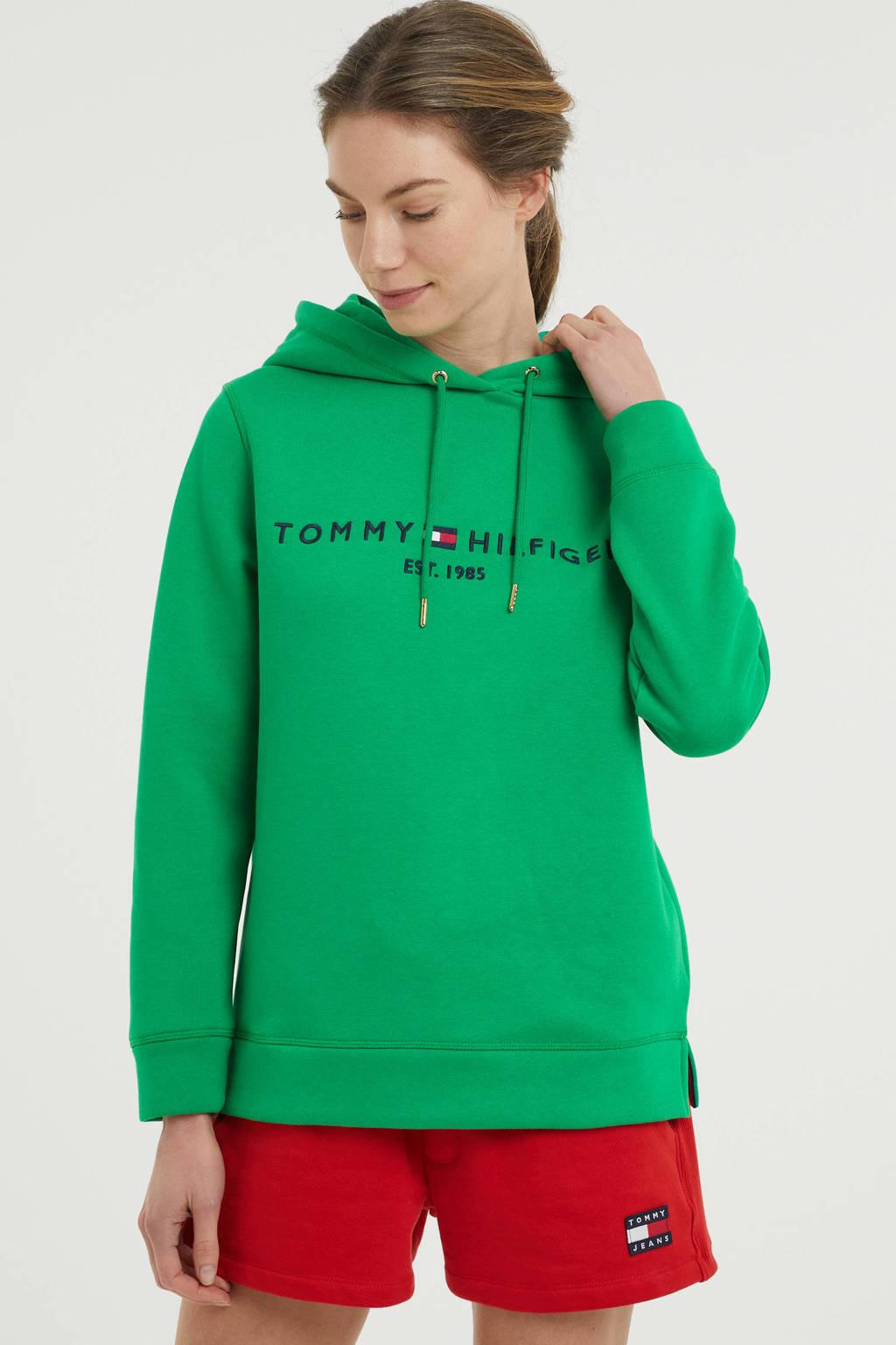 Tommy Hilfiger hoodie met logo groen, Groen