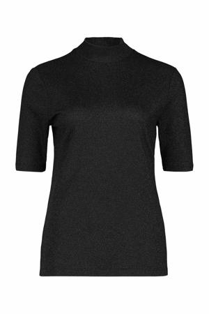 T-shirt met glitters zwart
