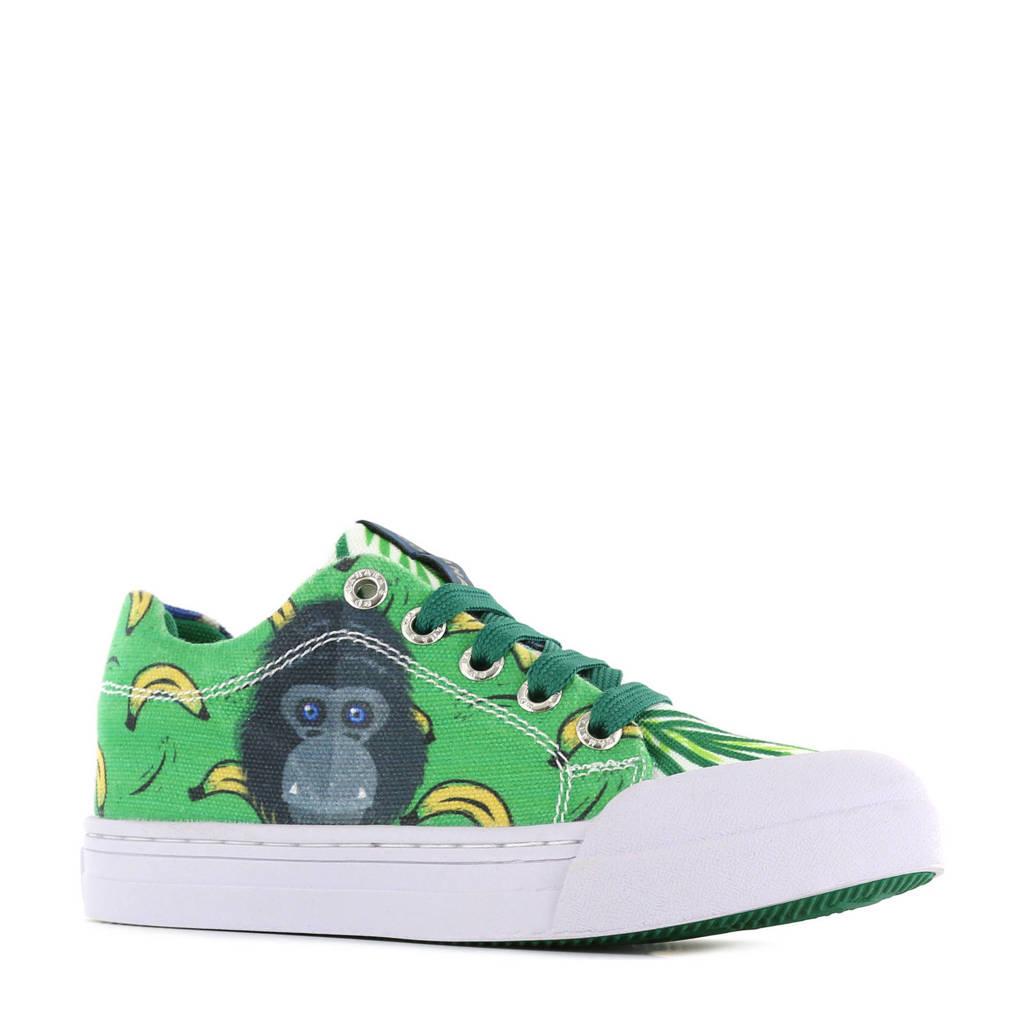 Go Banana's Monkey  sneakers groen/blauw, Groen/blauw