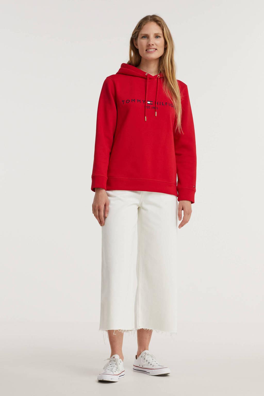 Tommy Hilfiger hoodie met logo rood, Rood