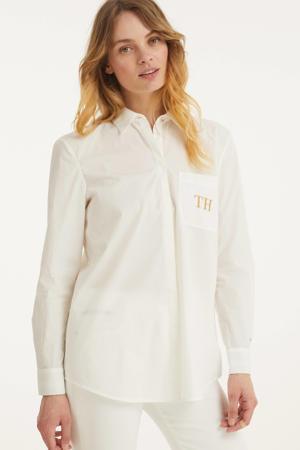 blouse met borduursels katoen