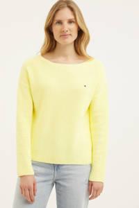 Tommy Hilfiger trui van biologisch katoen geel, Geel