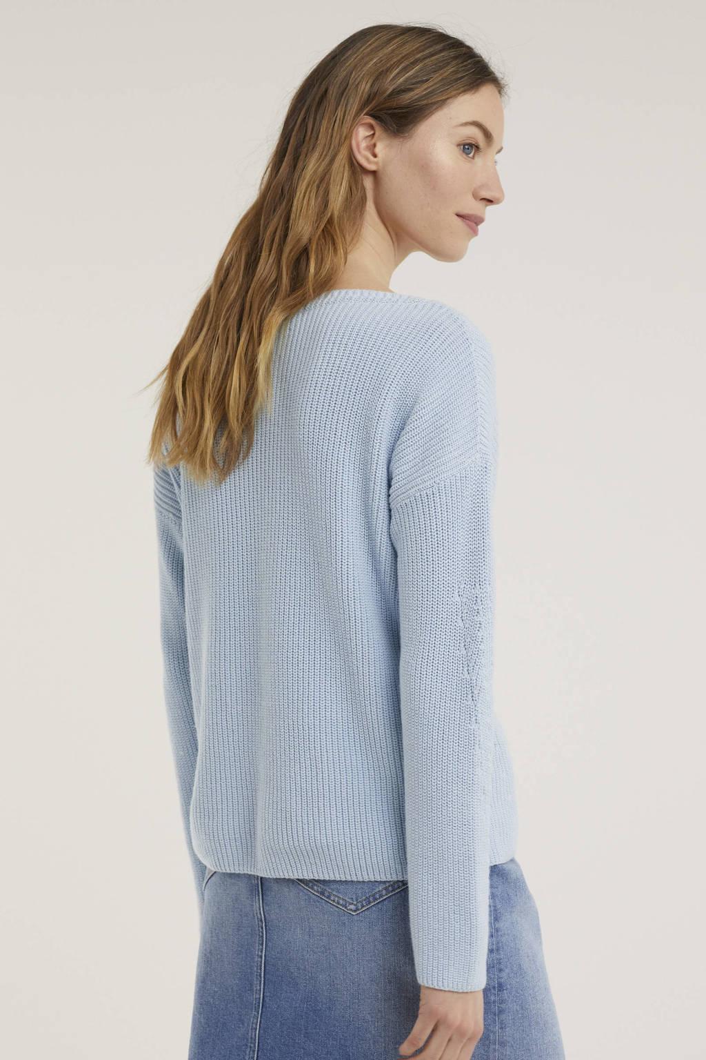 Tommy Hilfiger trui van biologisch katoen lichtblauw, Lichtblauw