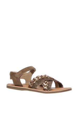 sandalen taupe/goud