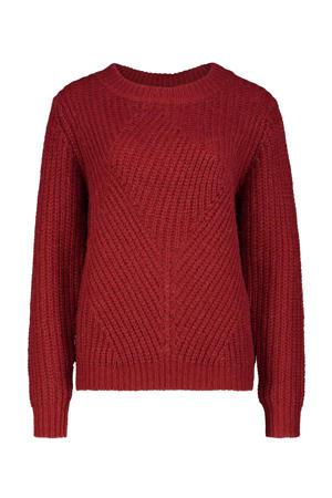 gebreide trui rood