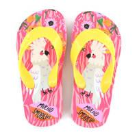 Go Banana's Mucho Smoocho  teenslippers geel/roze, Geel/roze
