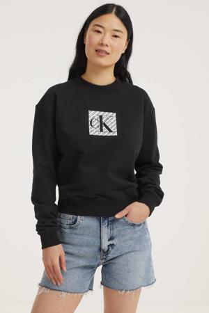 sweater van biologisch katoen zwart