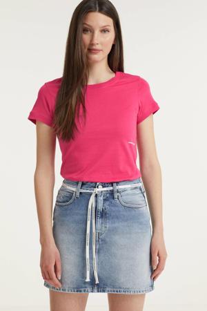 T-shirt van biologisch katoen roze