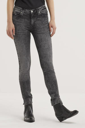 cropped skinny jeans denim grey