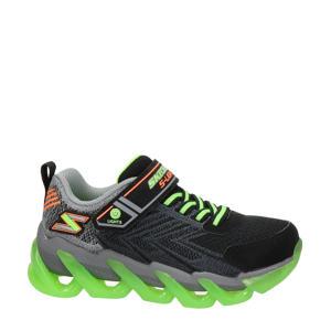 S-Lights  sneakers met lichtjes zwart/groen