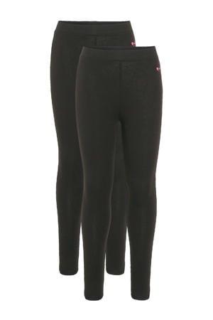 legging - set van 2 zwart