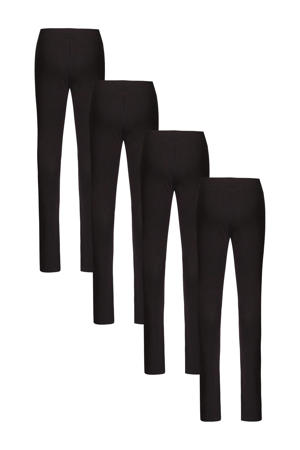 legging - set van 4 zwart