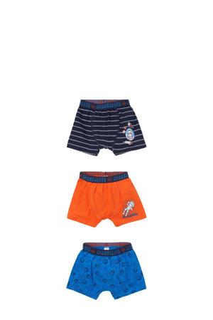 boxershort - set van 3 blauw/oranje/donkerblauw