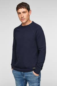 Q/S designed by trui met textuur donkerblauw, Donkerblauw
