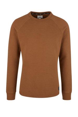 trui met textuur bruin
