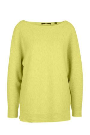 gemêleerde fijngebreide trui geel