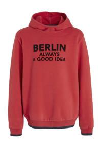 s.Oliver hoodie met tekst rood/zwart, Rood/zwart