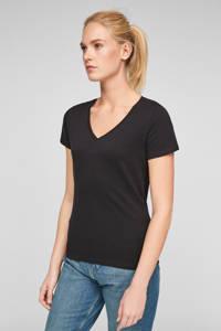 Q/S designed by T-shirt zwart, Zwart
