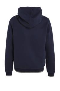 s.Oliver hoodie met tekst donkerblauw/zwart, Donkerblauw/zwart