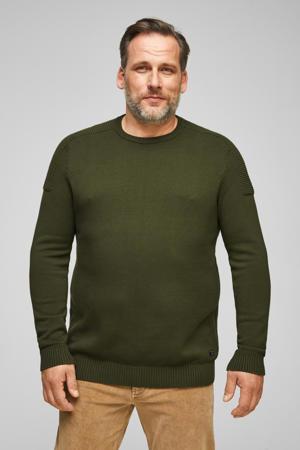 trui met textuur donkergroen