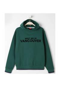 s.Oliver hoodie met tekst groen/zwart, Groen/zwart