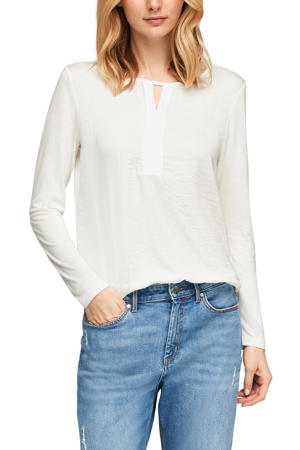 top met open detail ecru
