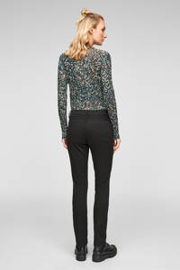 Q/S designed by high waist slim fit jeans zwart, Zwart