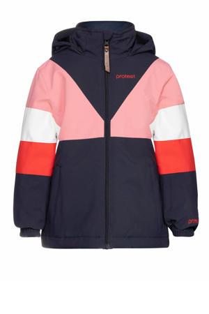 ski-jack Suzie TD donkerblauw/roze/rood