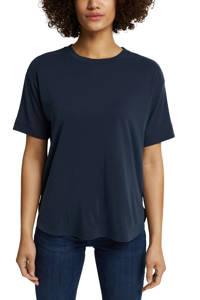 edc Women T-shirt donkerblauw, Donkerblauw