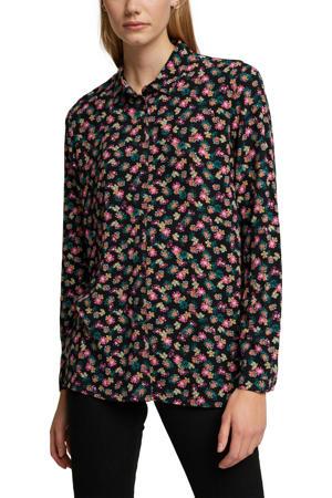 gebloemde blouse zwart/multi