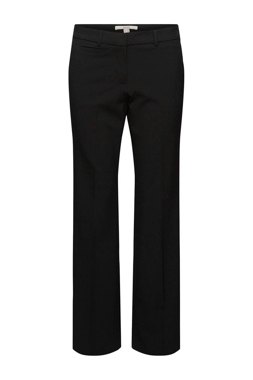 edc Women straight fit broek zwart, Zwart