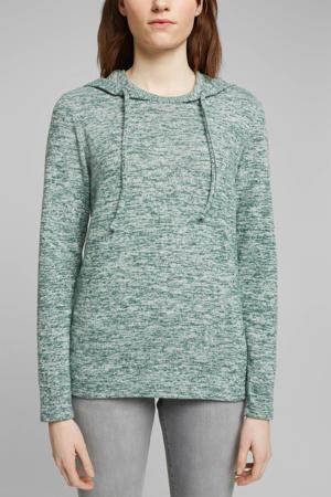gemêleerde hoodie mintgroen/groen