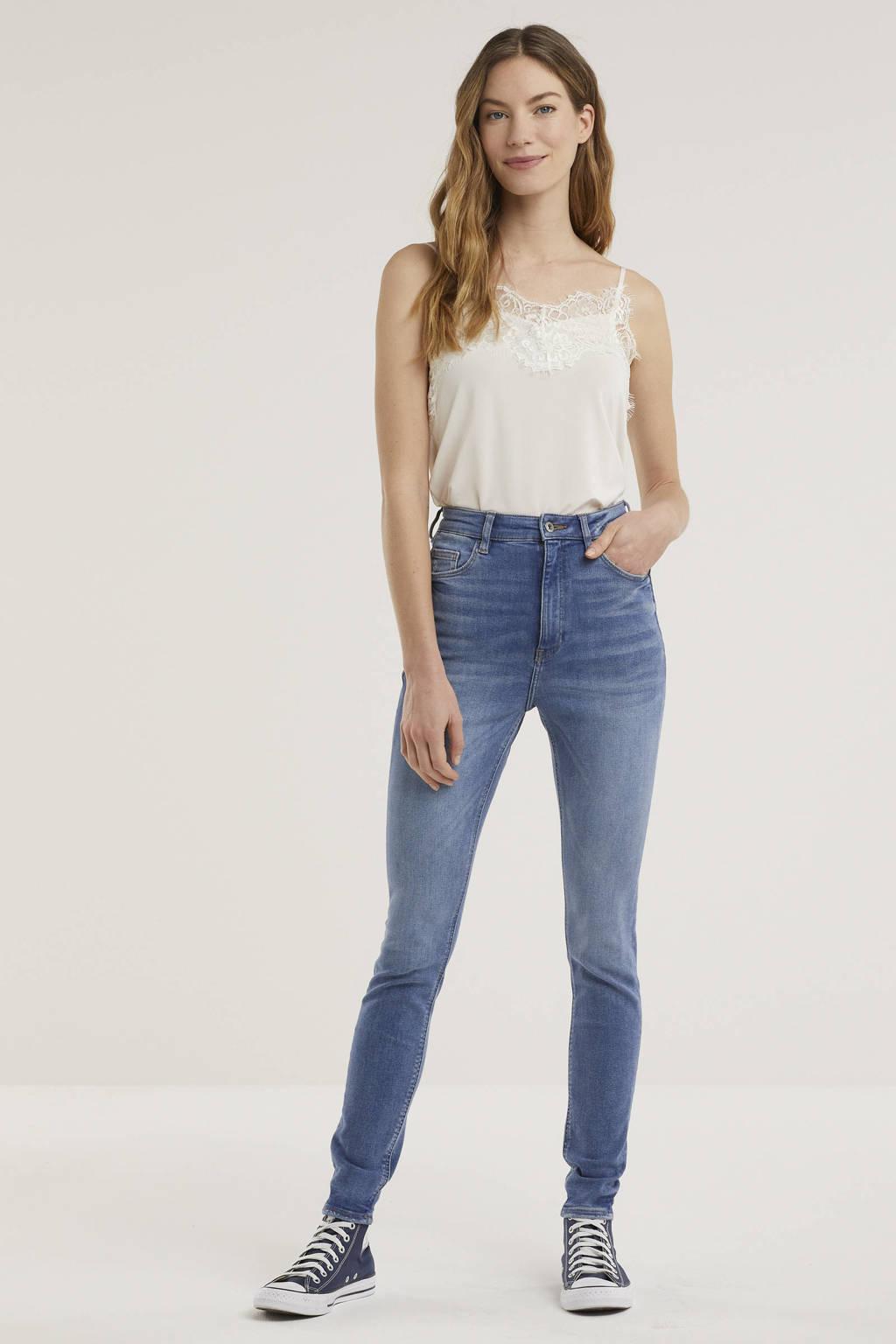 edc Women high waist skinny jeans light denim stonewashed, Light denim stonewashed