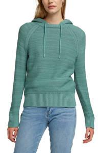 edc Women gebreide trui met biologisch katoen turquoise, Turquoise