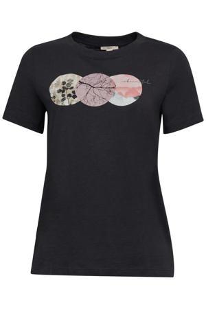 T-shirt van biologisch katoen zwart/multi