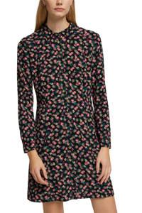 edc Women gebloemde blousejurk zwart/multi, Zwart/multi