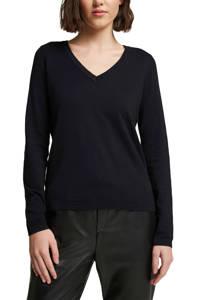 edc Women gemêleerde fijngebreide trui zwart, Zwart