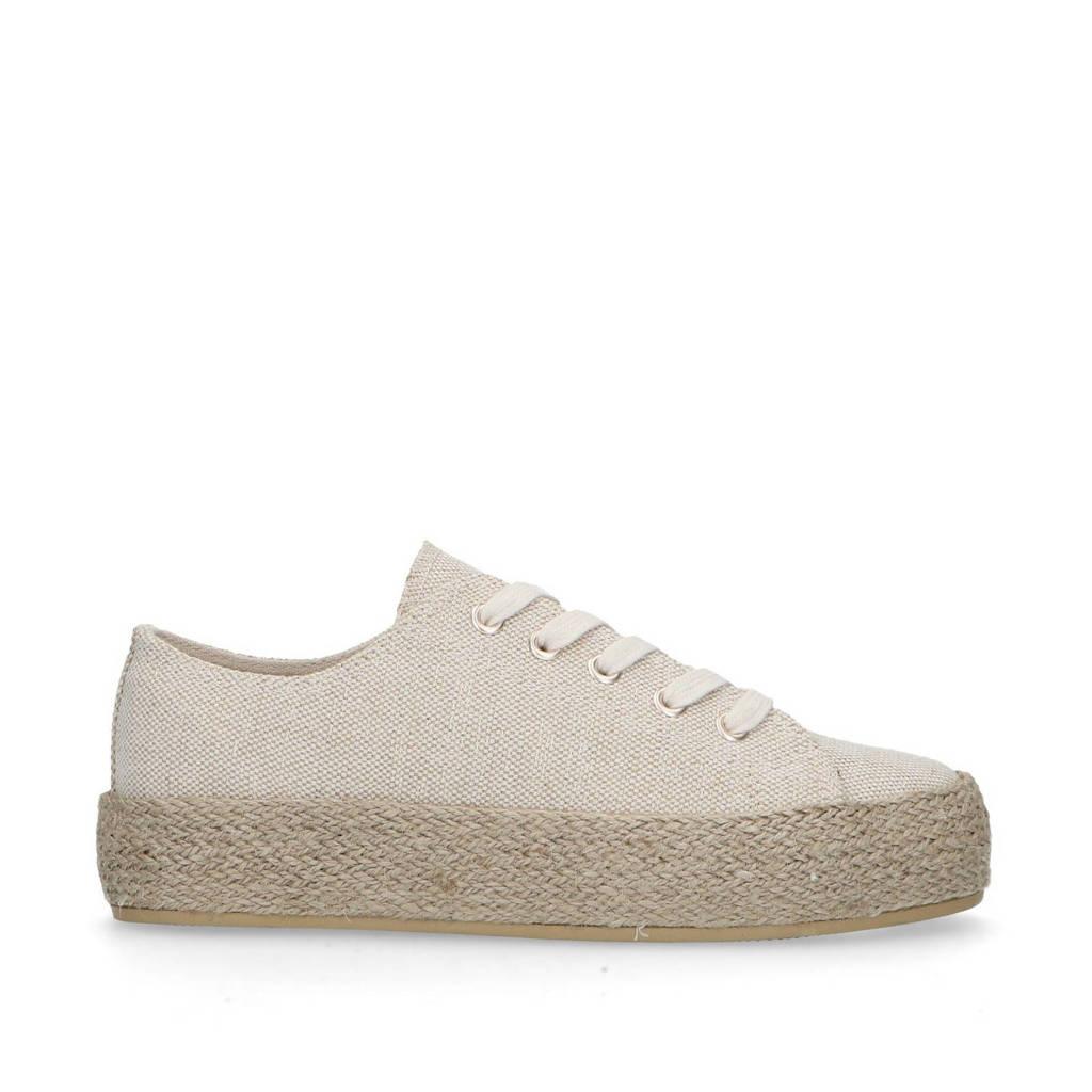Sacha   canvas sneakers met espadrillezool beige, Beige