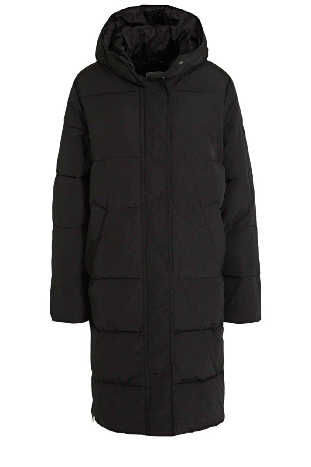 Fransa gewatteerde jas Lot zwart, Zwart